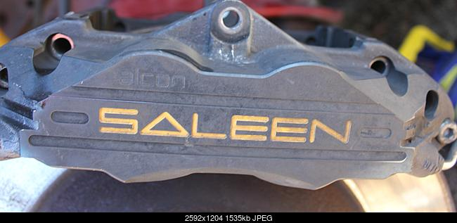 Help: Replacement Front Brake Pads? - Saleen calipers - The